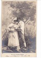 25429 Enfant Epoux Amoureux Couple Choux Jardin Rose Fillette -AS Paris -3 Puis Completer Famille - Enfants