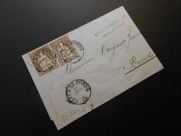 CH ZNr.22  2x5Rp  Sitzende Helvetia 1860 - 1854-1862 Helvetia (Imperforates)