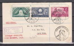 South-Africa 1949,3V,voortrekker Monument Set,on Registered Cover To Cape Town(L1961) - Stamps