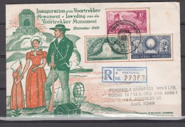 South-Africa 1949,3V,voortrekker Monument Set,on Registered Cover To Cape Town(L1962) - Stamps