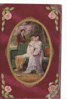 25432 - Quatre Cpa -enfant Epoux Amoureux Couple Directoir Roses -série937 En Relief ! état ! - Enfants