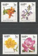 Thailand Mint MNH 4v Stamp, 1989 : Fleurs Diverses ** / Various Flowers
