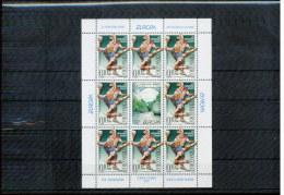 Montenegro 2001 Sport Zuschlagmarke / Tax Stamp Kleinbogen / Sheet Of 8 + Label Postfrisch / MNH - Handball