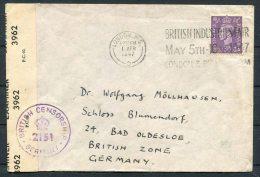 1947 GB London British Industries Fair Censor Cover - Schloss Blumendorf, Bad Oldesloe, Gemany - 1902-1951 (Kings)