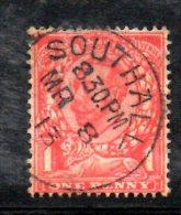 SS5573 - GRAN BRETAGNA 1912 , Giorgio V 1 Penny Fil Multi Cypher  N. 138  Usato - 1902-1951 (Kings)