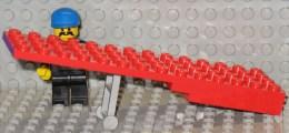 279/105  LEGO  PIANALE BILICO RIMORCHIO CAMION CHASSIS ORIGINALE 4X14 ROSSO ROUGE COSTRUZIONI - Lego System