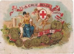 Etiquette   LA CRUZ ROJA  FABRICA DE TABACOS - Etiketten