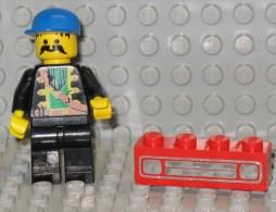 279/122  LEGO MATTONCINI BRIQUE 1x4 ROSSO ROUGE SERIGRAFATO SERIGRAPHIE ORIGINALE COSTRUZIONI - Lego System