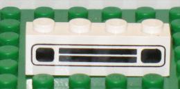 279/122bis  LEGO MATTONCINI BRIQUE ORIGINALE 1X4 BIANCO BLANC SERIGRAFATO SERIGRAPHIE - Lego System