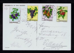 Pears grapes cherries poires raisins cerises fruits veg�tables alimentation Birnen Trauben S.MARINO postcard sp3556