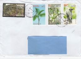 Z] Enveloppe Cover Maurice Mauritius Palmier Palm Forêt Forest Orchidée Orchid Bird Oiseau Parc National Bras D´Eau Park - Maurice (1968-...)