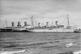 EMPRESS OF BRITAIN & RELIANCE Port Melbourne1938 Modern Digital Photo Postcard - Piroscafi