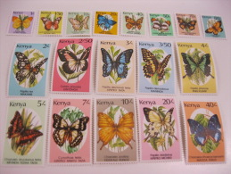 Kenya-Butterflies Sc# 424A-440  1988-1990 - Schmetterlinge