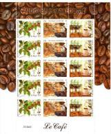 Nouvelle Calédonie Le Café TP N° 869 à 871  Neufs**  Feuille De 5 Triptyque - New Caledonia