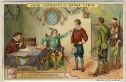Liebig 1906 Sanguinetti N. 865 La Vita Di Shakespeare Figura 3 (Italia) Serie € 9 - Liebig