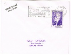 1071 RAVEL SUR ENVELOPPE SCOTEM O.MEC. CIBOURE - Francia