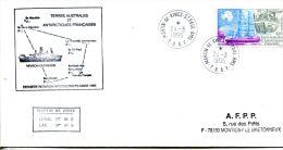 N°305 B -enveloppe TAAF -cachet Dernière Rotation Interdistricqe Mars1995- - Terres Australes Et Antarctiques Françaises (TAAF)