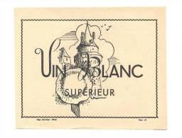 Etiquette De Vin De Table  Blanc    -   Thème Chateau De Vitré - Châteaux