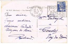 O.MEC SECAP ILLUSTREE LE PUY EN VELAY FOIRE EXPO 1951 - Poststempel (Briefe)