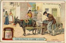 Liebig 1910 Sanguinetti N. 1004 Al Portogallo. L'arrotino (Italia) Serie € 13 - Liebig
