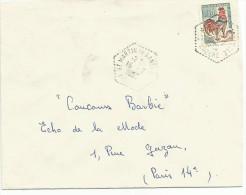OBLITERATION SUR LETTRE DE SAINT MARTIN DE LANSUCLES (LOZERE) DU 15/7/1965 - 1961-....