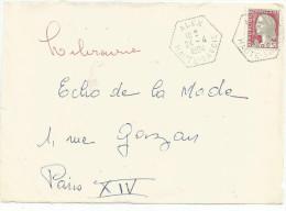 OBLITERATION SUR DEVANT DE LETTRE DE ALEX (HAUTE SAVOIE) DU 24/4/1964 - Marcophilie (Lettres)