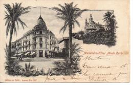 CPA - MONTE CARLO - ALEXANDRA HOTEL - 2 VUES - 867 - MULLER & TRUB - PRECURSEUR - Unclassified
