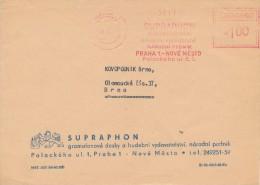K4028 - Czechoslovakia (1979) Praha 1: SUPRAPHON Gramophone Records & Music Publishing, National Corporation (letter) - Music