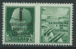 1944 RSI PROPAGANDA DI GUERRA 25 CENT MNH ** - Y098-4 - Propaganda Di Guerra