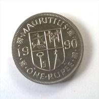 Monnaies - Maurice - 1 Rupee 1990 - Superbe - - Mauritius