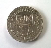 Monnaies - Maurice - 1 Rupee 1987 - Superbe - - Mauritius