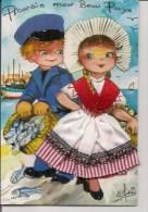 Carte Brodée  -   Editions Cely  -    Efsi  -     PICARDIE, Mon Beau Pays - - Brodées