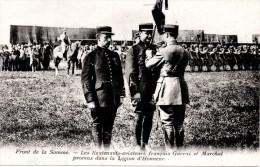 FRONT DE LA SOMME : Lieutenants Aviateur GARROS ,et MARCHAL Promus Dans La Légion D´Honneur - Guerre 1914-18