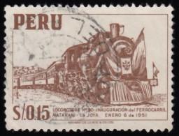 PERU - Scott #468 Locomotive No. 80 / Used Stamp - Peru