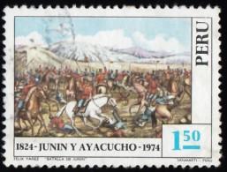 PERU - Scott #620 Battle Of Junin And Ayacucho, 150th Anniversary / Used Stamp - Peru