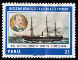 PERU - Scott #689 Heroes Of The Pacific War / Mint H Stamp - Peru