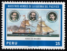 PERU - Scott #690 Heroes Of The Pacific War / Mint H Stamp - Peru