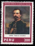 PERU - Scott #696 Heroes Of The Pacific War, Col. Francisco Bolognesi / Used Stamp - Peru