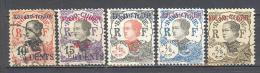 Kouang Tchéou: Entre Yvert 39/54; 5 Valeurs - Used Stamps