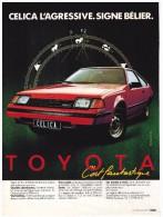 TOYOTA CELICA PUBLICITE ISSUE D´UN MAGAZINE 1982 FORMAT 21 X 28.5 FRANCE - Advertising
