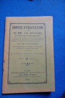 Manuel Militaire  Abrege  Equitation Cavalerie Cheval 1897 - 1914-18
