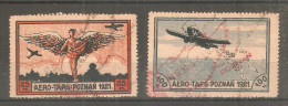 2 Sellos Aero-Targ Poznan De 1921. Used. - Ohne Zuordnung