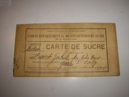 CARTE DE SUCRE -BRIOUDE  HAUTE LOIRE - Material Und Zubehör