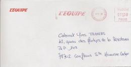 EMA Rouge De Issy Les Moulineaux (92) L´équipe (oblitération Du 21/01/1997) - Freistempel