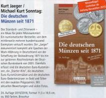 Jäger Münzen-Katalog Deutschland 2016 Neu 25€ Für Münzen Ab 1871 Mit Numisbriefe Numismatic Coins Of Old And New Germany - Material Und Zubehör