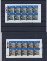 Belgie - Belgique 3606/07 Velletje Van 10 Postfris - Feuillet De 10 Timbres Neufs  -  Koning Albert II - Met Drukdatum - Feuilles Complètes
