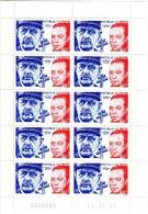 Nouvelle Calédonie Charles De Gaulle 5ème République  TP N° 1054  Neufs**  Feuille De 10 - Ungebraucht