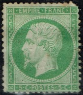 France - 1862 - Y&T - N° 20, Neuf Sans Gomme, Dent Manquante Au Coin Supérieur Dreoit - 1862 Napoléon III.