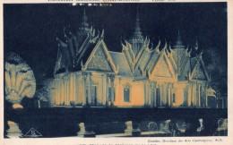CPA   --  EXPOSITION  COLONIALE  INTERNATIONALE  --  PARIS  1931  --  PAVILLON  DU  CAMBODGE  VUE  DE  NUIT.... - Tentoonstellingen
