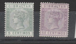 GIBRALTAR N° 22 ET 26 VICTORIA NEUF AVEC CHARNIERE - Gibraltar